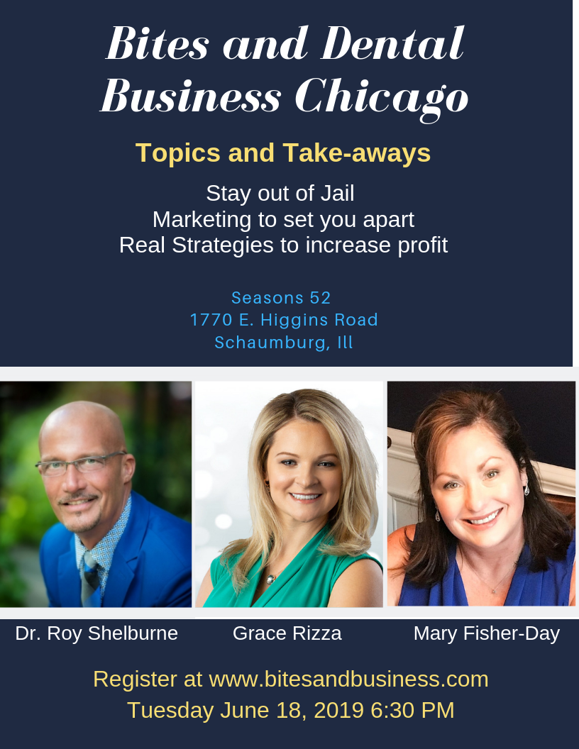 Bites and Business Chicago Save the Date Poster